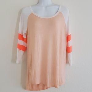 Rue21 apricot long sleeve tshirt soft lightweight